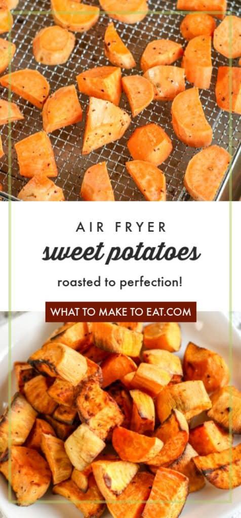 air fryer roasted sweet potatoes