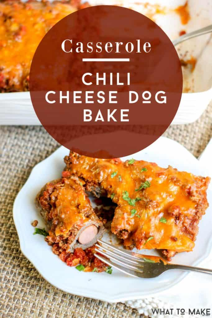 chili cheese hot dog casserole with tortillas