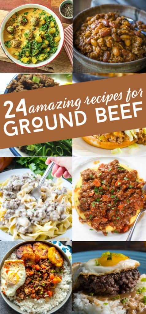 24 Amazing recipes for ground beef. These delicious meals made with hamburger are sure to stir up your dinner routine.