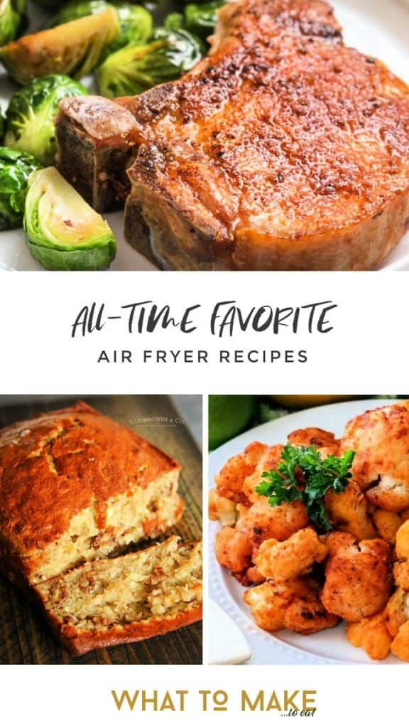 These easy air fryer recipes are the answer to what to mak in an air fryer. From side dishes to the main dish, there is a quick recipe for you! #whattomaketoeat