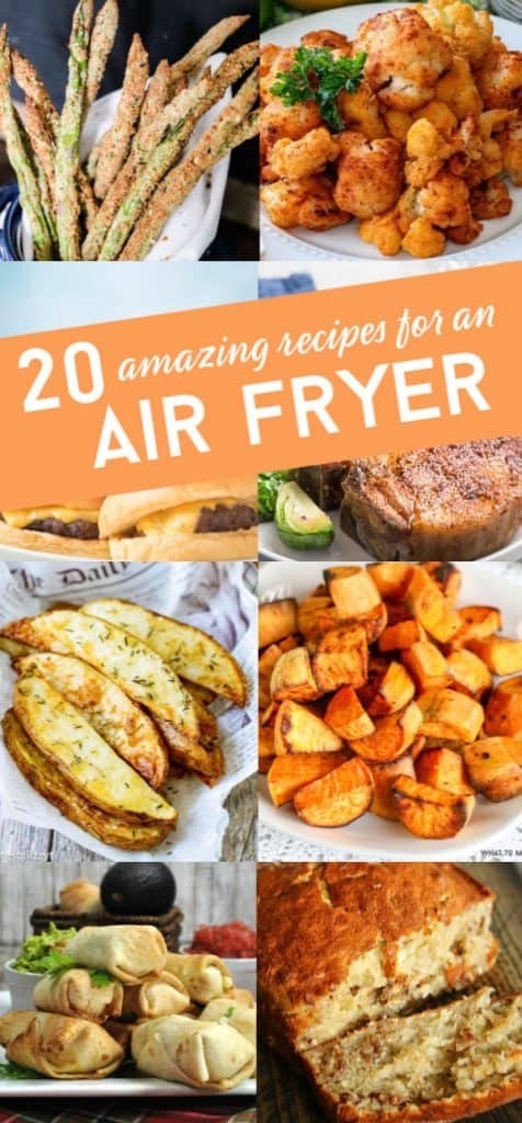 These easy air fryer recipes are the answer to what can you cook in an air fryer. From side dishes to the main dish, there is a quick recipe for you! #whattomaketoeat