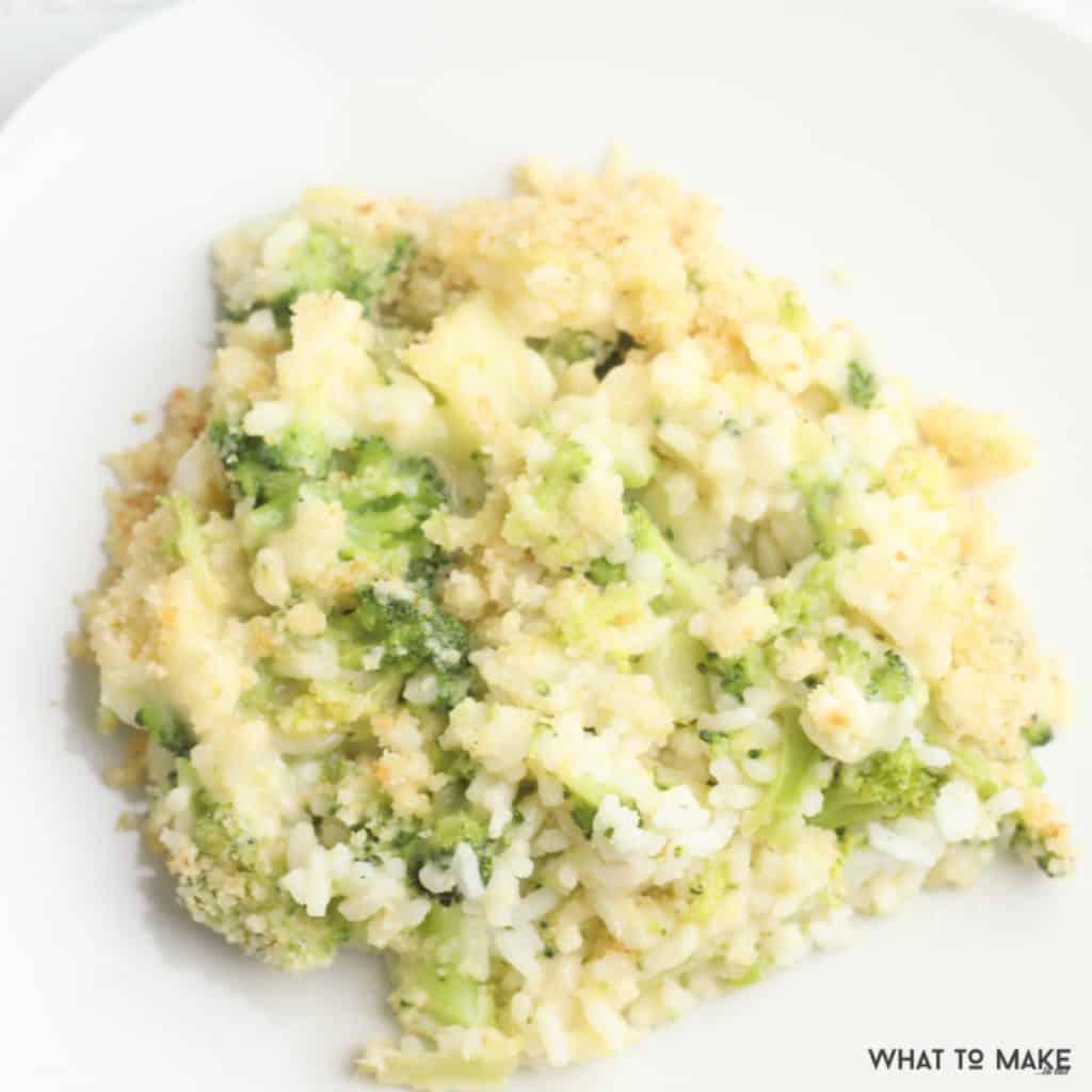 easy broccoli cheese rice casserole