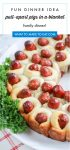 """Image of Pull apart lil smokies pigs in a blanket recipe. Text reads """"fun dinner idea! Pull-apart pigs in a blanket family dinner!"""""""