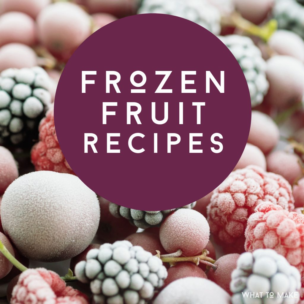"Image of frozen fruit. Text reads ""Frozen Fruit Recipes"""