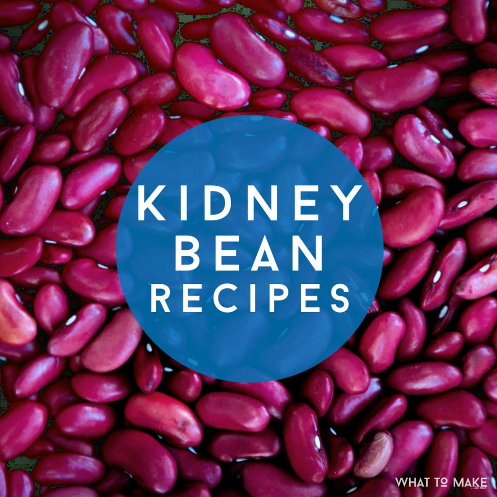 """Dried Kidney Beans. Text Reads """"Kidney Bean Recipes"""""""