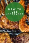 """Image of leftover meat. Text reads """"How to use leftovers"""""""