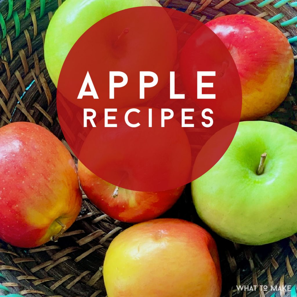 """Apples. Text reads """"Apple Recipes"""""""
