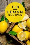 "Box of lemons. Text Reads: ""118 Lemon Recipes"""